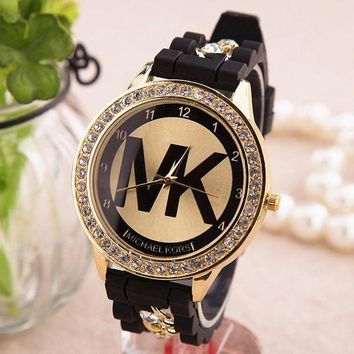 PEAPYV2 MK Fashion Diamonds Chain Silicone Watch Watches Wrist Watch