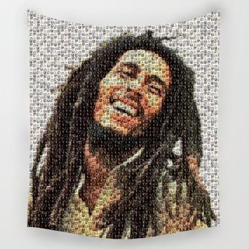 Comwarm Raggae Music Representative Person Bob Marley Pattern Polyester Tapestry Wall Hanging Picnic Beach Yoga Mat Decor Art