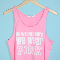 On Wednesdays We Wear Pink - Light Pink Crop Tank Top | Yotta Kilo