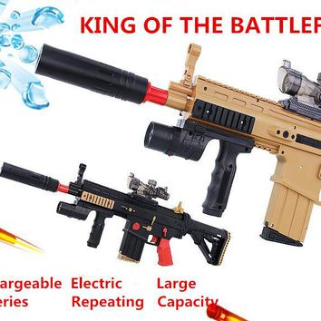 Cool!!!Electric Toy Gun Scar Paintball Soft Bullet Gun Rifle