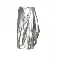 mytheresa.com -  Jil Sander - COATED METALLIC MODERN DRAPED SKIRT - Luxury Fashion for Women / Designer clothing, shoes, bags