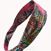 Multi-Color Scarf Print Headwrap