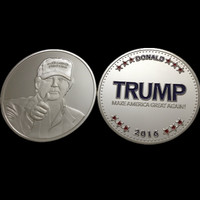 2PCS The United States Republican presidential candidate Donald Trump  24k Silver Plated Souvenir Coin.free shipping