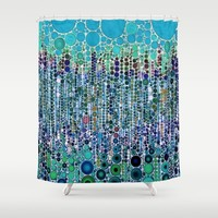 :: Blue Raspberry Martini :: Shower Curtain by :: GaleStorm Artworks ::