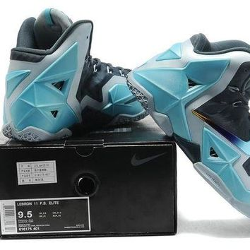"LeBron 11 XI P.S Elite ""Gray/Blue"" Sneaker Shoe"