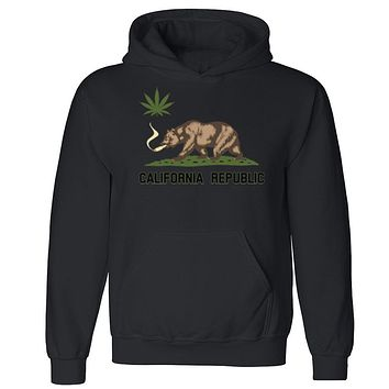 "Zexpa Apparelâ""¢ California Bear Weed Joint Unisex Hoodie Dope Weed Smoker Cool Hooded Sweatshirt"