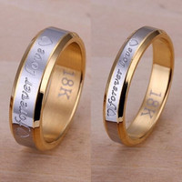 New Fashion Jewelry Forever love Women Men Sexy Ring Silver Plated Steel Ring Love + Gift Box