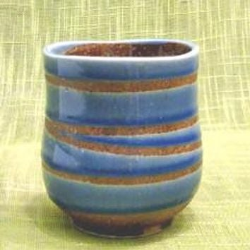 Blue Swirl Japanese Tea Cup