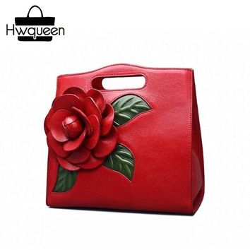 ccdf077b34 Chinese Style Large 3D Rose Flower Designer Genuine Leather Wome.   Item  Type  Handbags ...