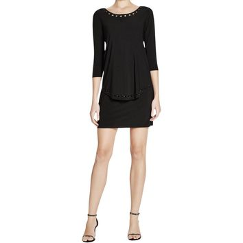 Laundry by Shelli Segal Womens Popover Embellished Cocktail Dress