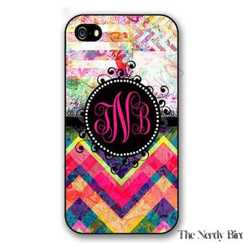Personalized iPhone 4, 5, 5c and 6 and Galaxy s3, s4 and s5 - colorful Monogram