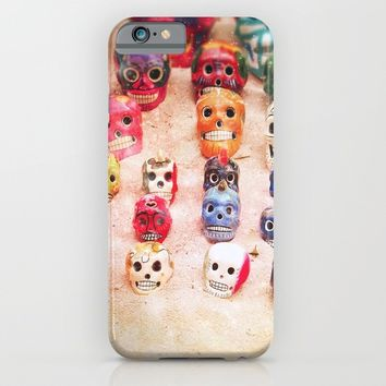 Sugar Skulls iPhone & iPod Case by Jenndalyn