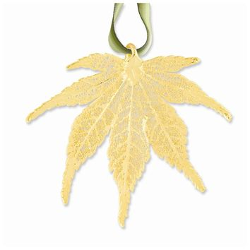 24k Gold Dipped Japanese Maple Decorative Leaf