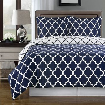 Meridian 100% Combed Cotton Duvet Cover Set