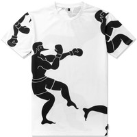 Rockwell by Parra Black on White Boxer T-Shirt | HYPEBEAST Store. Shop Online for Men's Fashion, Streetwear, Sneakers, Accessories
