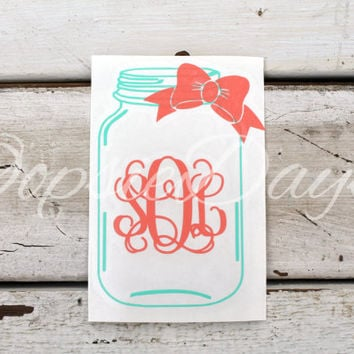 Shop Initial Monogram Car Stickers On Wanelo - Monogram car decal sticker