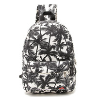 Cute Palm Tree Printed Canvas Backpack