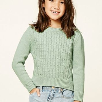 Girls Cable-Knit Sweater (Kids)