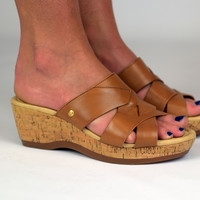 Janae Farris Wedge by Hush Puppies {Tan Leather} | HW05278-236
