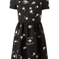 Valentino Embroidered Daisy Dress - O' - Farfetch.com