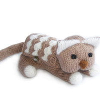 Funny pouch Cute knitted cat purse