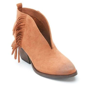 MDIGYW3 Coconuts by Matisse Saddle Miranda Fringe Booties