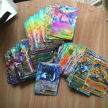 60pcs 100pcs China All Mega Shiny No Repeat Mega EX English Pokemon Cartes Japan Charizard Ex Pokemon Cards Kaarten Game