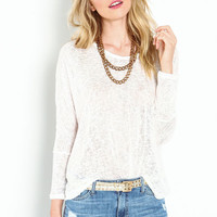 DOLMAN BURNOUT KNIT TOP