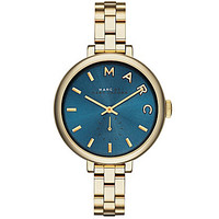 Marc By Marc Jacobs Women´s Sally 3 Hand Gold Blue Dial Stainless Steel Watch | Dillards.com