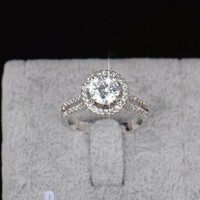 Luxury Engagement Sterling Silver Rings