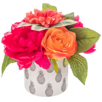 Floral Arrangement In Pineapple Ceramic Pot | Hobby Lobby | 1733419