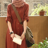 Long shirt/ flax sark / blouse/ rark/ long clothes/fiax clothes/ flax blouse/ casual wear