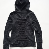 Hollow Out Slim Outdoors Long Sleeve Gym Tops Jacket [6572768455]