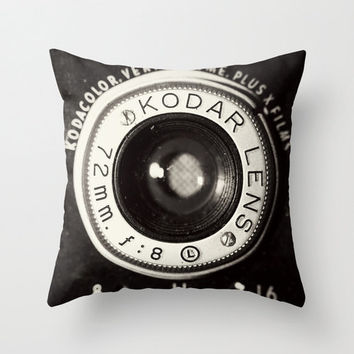 Vintage Camera pillowcase  Home Accessory by maybesparrowsplace