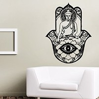 Wall Decals Yoga Lotus Indian Buddha Decal Vinyl Sticker Home Decor Bedroom Interior Design Art Mural MS548