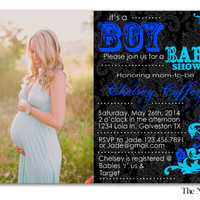 Blue or Pink Customized Printable Baby Shower Invitation