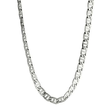 """Stainless Steel Mariner Link Chain Necklace, 30"""""""