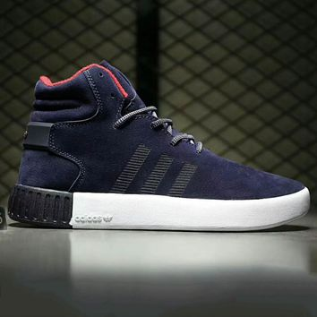Adidas tubular invader strap Fashion Men Running Sport Casual High Top Shoes Sneakers Grey G-A0-HXYDXPF