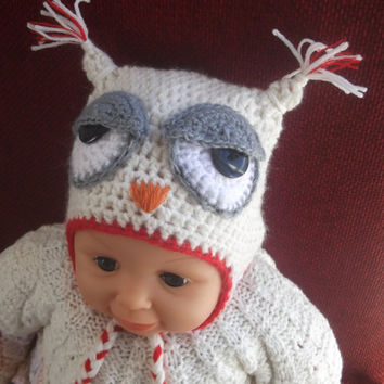 Owl Hat Easy CROCHET PATTERN All sizes by SimpleCrochetPattern