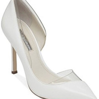 BCBGeneration Women's Tricky High Heel White/Clear Pump 8.5 M