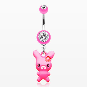 Marshmallow Bunny Belly Button Ring