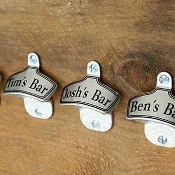 Beer Groomsmen Gifts, Personalized Wall-Mount Bottle Opener, Groomsman Gift, Custom Gifts for Groomsmen, Wedding Party Gifts - 1 Beer Opener