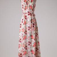 Summer Song Floral Maxi Dress - Ivory