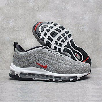 NOV9O2 Nike Air Max 97 LX Swarovski Crystal METALLIC Silver Bullet Running Shoes Sport Shoes 927508-001