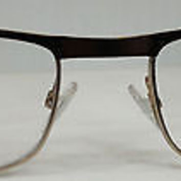 NEW AUTHENTIC GIORGIO ARMANI GA 830 COL YI3 BROWN W/GOLD EYEGLASSES FRAME 53MM