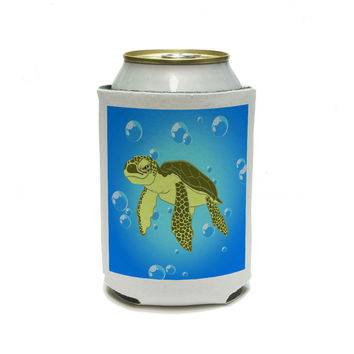 Sea Turtle - Ocean Cute Can Cooler Drink Insulator Beverage Insulated Holder