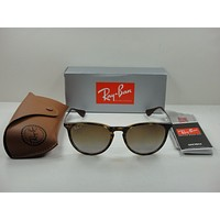 RAY-BAN ERIKA POLARIZED SUNGLASSES RB4171 710/T5 TORTOISE/BROWN GRADIENT 54MM