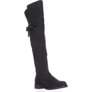 Kelsi Dagger Brooklyn Colby Over The Knee Boots, Black Leather, 9 US