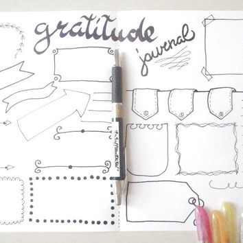 gratitude journal printable planner agenda thanks thanksgiving bullet journal organizer notebook diary positivity download lasoffittadiste