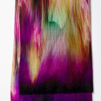 KINROSS BRUSHSTROKE BERRY SCARF